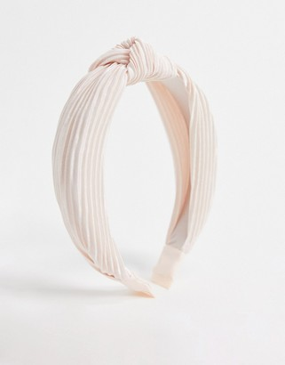 Accessorize knotted headband in blush