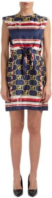 Alberta Ferretti Sleeveless Printed Dress