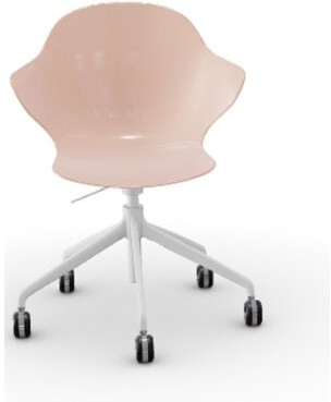Calligaris Saint Tropez Task Chair Color: Glossy Pale Pink