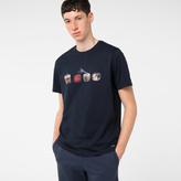 Paul Smith Men's Navy Organic-Cotton 'Dice' Print T-Shirt