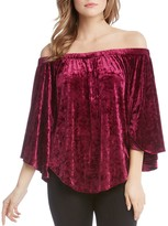Karen Kane Off-the-Shoulder Velvet Top