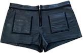 Etoile Isabel Marant Black Leather Shorts