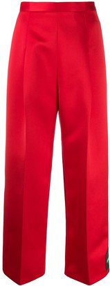 Christopher Kane Motif Patch Cropped Trousers