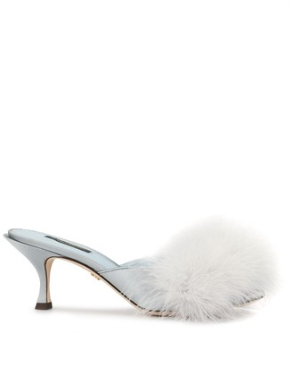 Dolce & Gabbana Feather Detail Mules