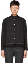 Sacai Black Drawstring and Lace Shirt