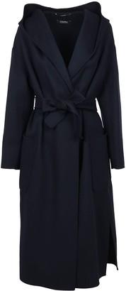 Max Mara Blue Wool Coat