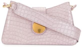 Elleme Crocodile-Effect Shoulder Bag