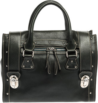 Dolce & Gabbana Dark Green Leather Miss Express Tote