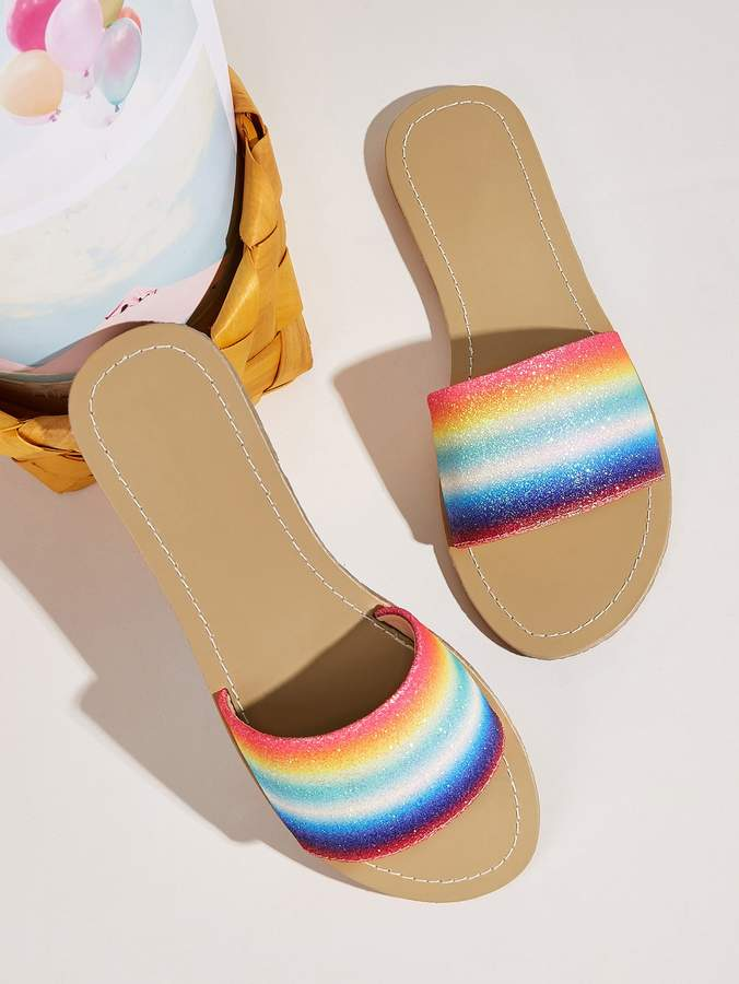 68dcb70a Rainbow Glitter Shoes - ShopStyle