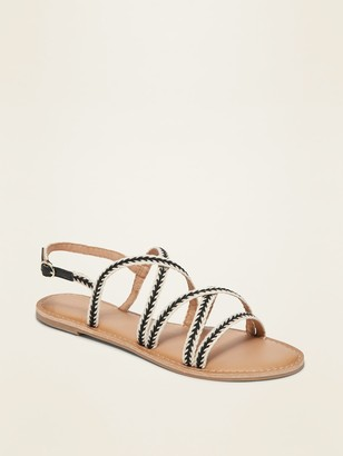 Old Navy Strappy Webbed-Textile Slingback Sandals for Women