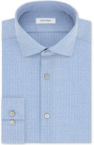 Calvin Klein Men's Steel Slim-Fit Non-Iron Performance Blue Check Dress Shirt