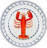 Golden Rabbit Lobster Enameled Serving Tray