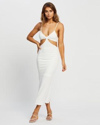 Reverse Women's White Midi Dresses - Cut Out Midi Dress - Size L at The Iconic