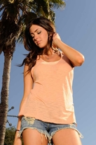 Blue Life Braided Tank in Creamsicle