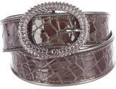 Just Cavalli Embossed Leather Waist Belt