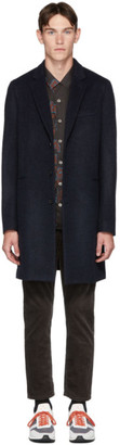 Paul Smith Navy Wool Epsom Coat