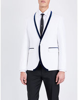Dsquared2 Velvet-trim Slim-fit Cotton-blend Jacket