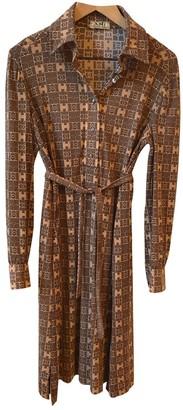 Hermes Beige Synthetic Dresses