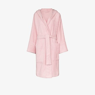 Tekla Hooded Organic Cotton Dressing Gown