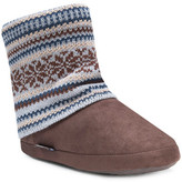 Muk Luks Legwarmer Scrunch Fleece Lined Bootie Slipper