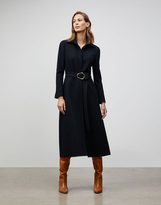 Lafayette 148 New York Nouveau Crepe Adair Shirtdress