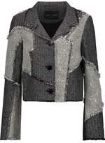 Proenza Schouler Frayed Patchwork Tweed Jacket