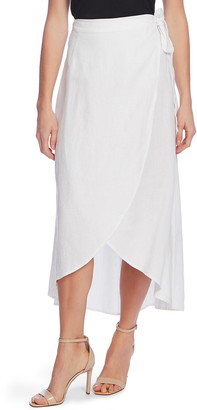 Vince Camuto Linen Wrap Skirt