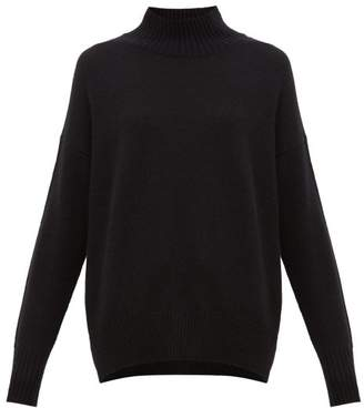Allude Oversized High-neck Cashmere Sweater - Womens - Black