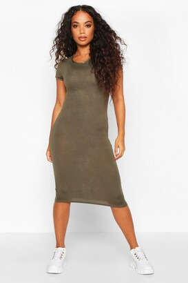 boohoo Petite Basic Cap Sleeve Midi Dress