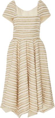 Rosie Assoulin Exclusive Striped Cotton-Blend Midi Dress