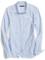 Tommy Hilfiger Long Sleeve Stripe Oxford Shirt