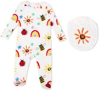 Stella Mccartney Kids Weather Motif-Print Organic-Cotton Pajamas