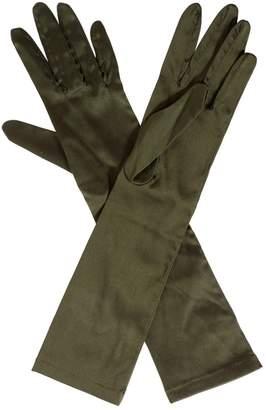 Saint Laurent \N Khaki Silk Gloves