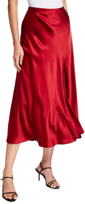 Lafayette 148 New York Sonoma Luxe Charmeuse Long Skirt