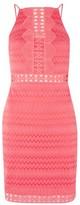 Topshop Crochet Trim Mini Dress