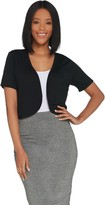 Joan Rivers Classics Collection Joan Rivers Short Sleeve Jersey Knit Shrug