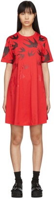 McQ Red Swallow Dress