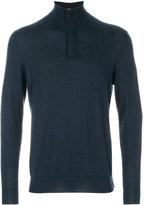 N.Peal The Regent fine gauge half zip jumper