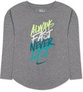 Nike Long-Sleeve Graphic-Print T-Shirt, Toddler Girls (2T-5T) & Little Girls (2-6X)