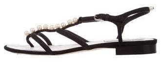 Chanel Embellished Thong Sandals