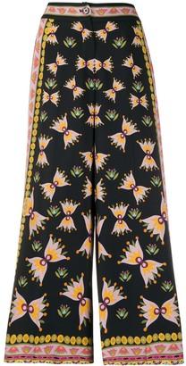 La DoubleJ Geometric Print Cropped Culotte Trousers