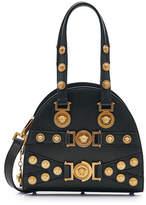 Versace Top Handle Embellished Leather Bag