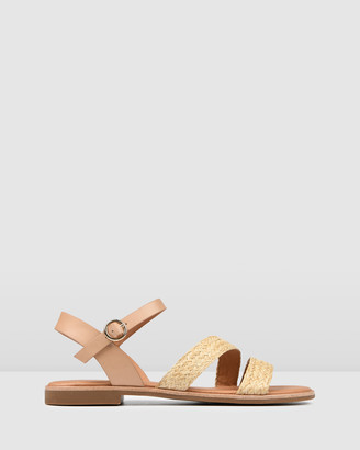 Jo Mercer - Women's Neutrals Strappy sandals - Gypsy Flat Sandals - Size One Size, 38 at The Iconic