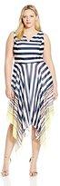 Robbie Bee Women's Plus Size One Piece Sleeveless Dress