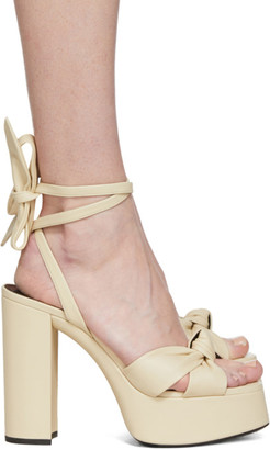 Saint Laurent Off-White Bianca 85 Heeled Sandals