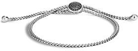 John Hardy Sterling Silver Classic Chain Black Sapphire & Black Spinel Ball Bracelet