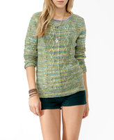 Forever 21 Marled Cable Knit Sweater