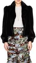 Co Women's Mink Fur Crop Coat