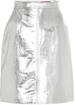 ALEXACHUNG Durand metallic leather miniskirt