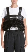 Noir Kei Ninomiya Women's Ruffled Faux Leather Harness